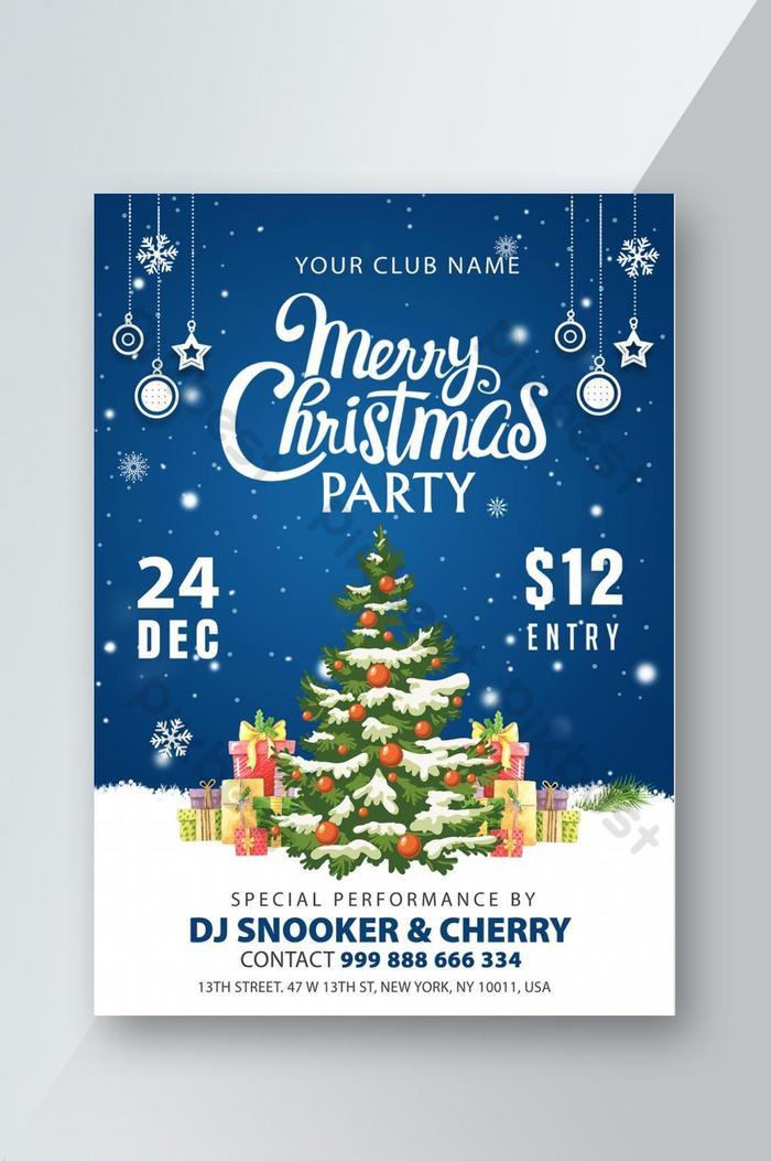 frohe weihnachten party flyer psd