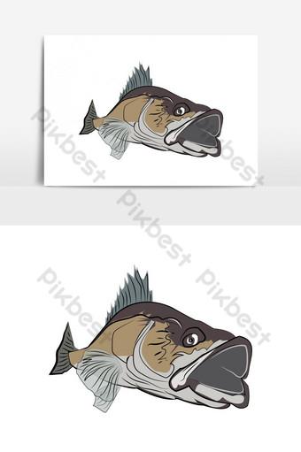 elemento gráfico de vector de peces nadando Elementos graficos Modelo AI
