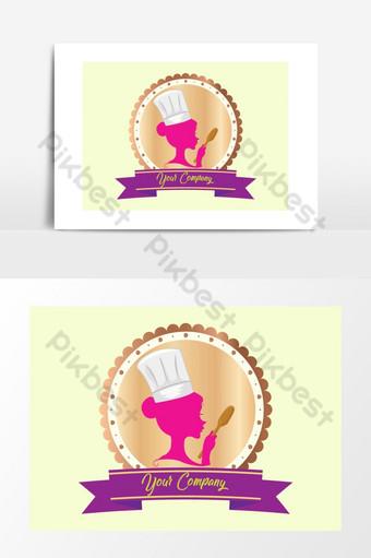 Yếu tố đồ họa đầu bếp màu hồng nấu ăn Công cụ đồ họa Bản mẫu PNG
