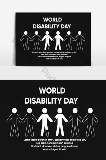 elemento gráfico de vector del día mundial de la discapacidad Elementos graficos Modelo AI