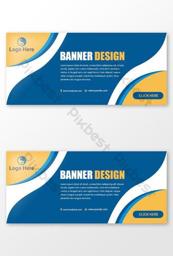 Conception de bannière Web créative Modèle PSD