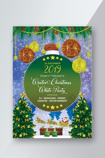 Flyer de fête de Noël d'hiver 2019 Modèle PSD