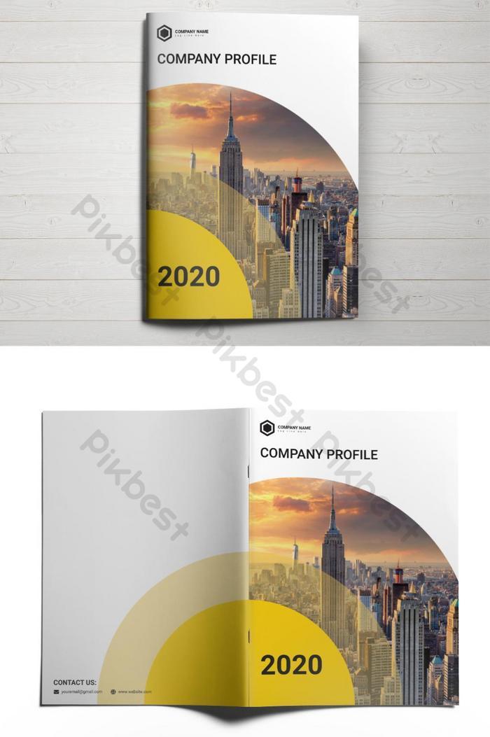 design do vetor do modelo da capa do perfil da empresa