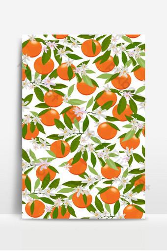 patrones sin fisuras frutas naranjas con flores y hojas sobre fondo blanco vector Fondos Modelo EPS