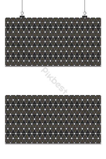 Seamless geometric pattern with interweaving thin lines triangle, hexagon pattern, gold Backgrounds Template EPS