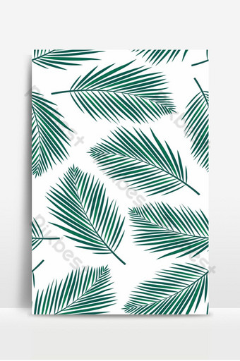 patrón sin costuras con hojas de palmeras Fondos Modelo EPS