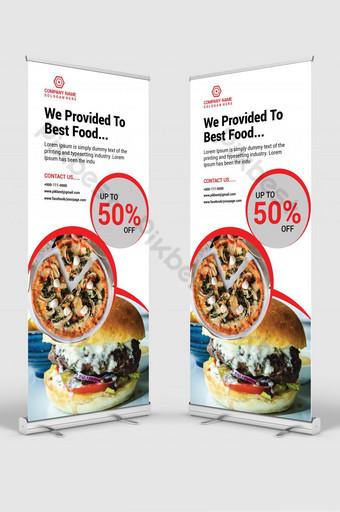 venta de alimentos enrollar diseño de plantilla de banner Modelo AI