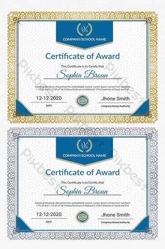 شهادة إبداعية حديثة لقالب الجائزة قالب PSD