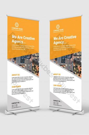 negocio corporativo enrollar diseño de plantilla de banner Modelo AI