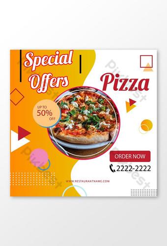 OFFRE SPÉCIALE modèle de conception d'affiche de pizza délicieuse Modèle AI