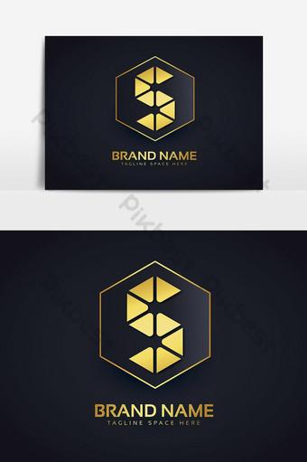 Logotipo de la letra s con diseño de lujo dorado. Elementos graficos Modelo AI
