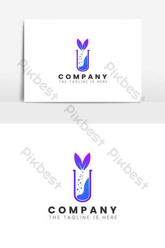 elemento de diseño de logotipo de laboratorio de ciencia Elementos graficos Modelo AI