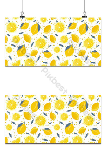 Frutas de limón y rebanada de patrones sin fisuras con hojas grises y brillantes sobre fondo blanco. Fondos Modelo EPS