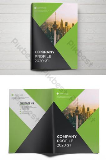 дизайн брошюры корпоративного профиля компании шаблон AI