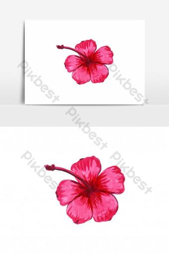 hermosa flor de vector de acuarela Elementos graficos Modelo AI