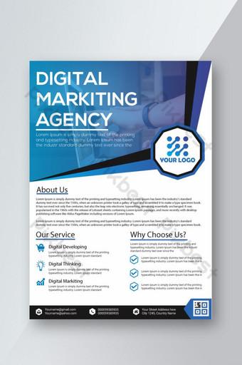 plantillas de diseño de folletos corporativos archivo ai gratuito agencia de marketing digital diseño de folletos Modelo AI