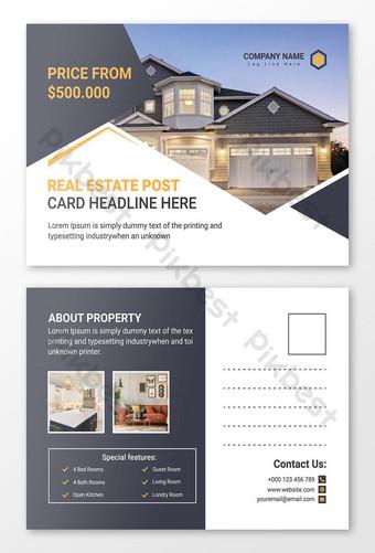 plantilla de postal creativa de bienes raíces Modelo AI
