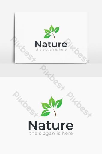 vector logo de plantilla de diseño de naturaleza Elementos graficos Modelo AI