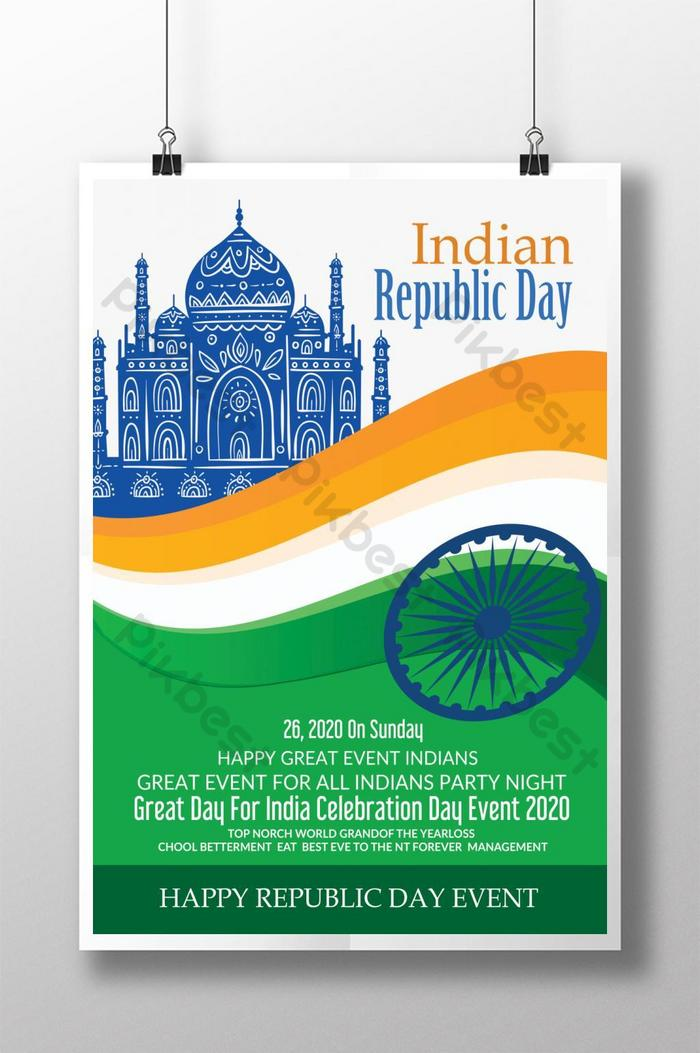 New Republic Day Of India Poster Template Psd Free Download Pikbest