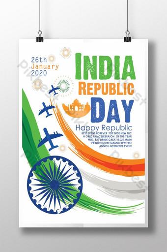 قوالب ملصق يوم جمهورية الهند قالب PSD