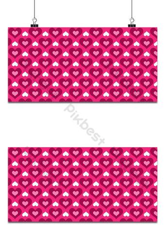 patrón de fondo transparente de corazones de color rosa Fondos Modelo AI