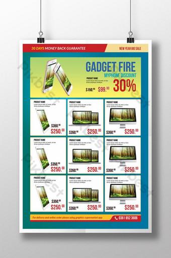templat poster katalog produk penjualan besar Templat PSD