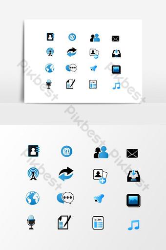 Élément de conception de jeu d'icônes d'application de téléphone Éléments graphiques Modèle EPS