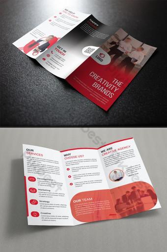 plantillas de folletos trípticos de marcas comerciales corporativas Modelo PSD