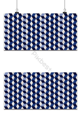 Seamless geometric 3d pattern with marble texture, hexagon pattern, blue and white pattern Backgrounds Template EPS