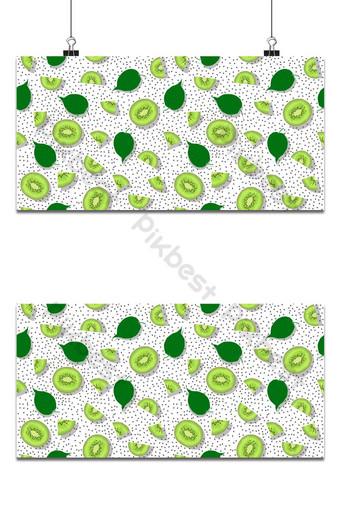 Pieza de kiwi de patrones sin fisuras con semillas en la ilustración de vector de fondo blanco Fondos Modelo EPS