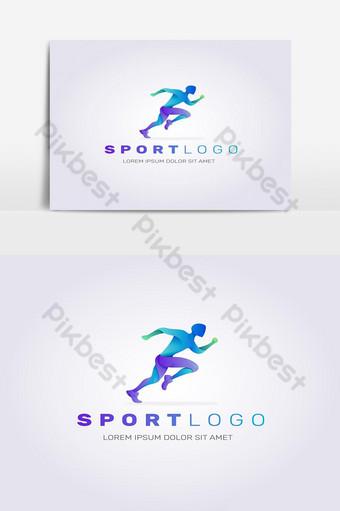 diseño plano del logotipo del deporte silueta abstracta Elementos graficos Modelo EPS