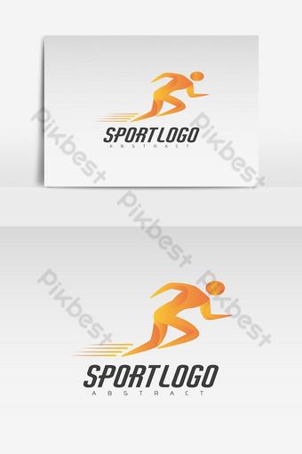 modèle de logo abstrait logo en cours d'exécution Éléments graphiques Modèle EPS