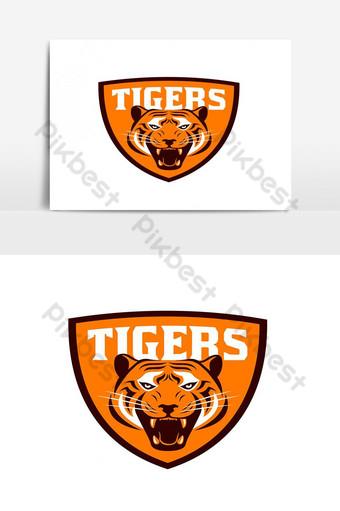 elemento gráfico de vector de logo de tigre Elementos graficos Modelo EPS