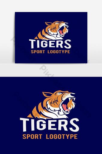 elemento gráfico de vector de logo de tigre deportivo Elementos graficos Modelo EPS