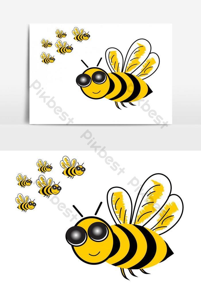 飛蜂矢量圖形元素