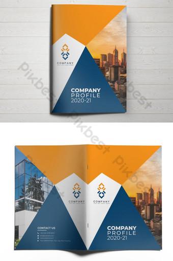 дизайн обложки брошюры корпоративного профиля компании шаблон AI
