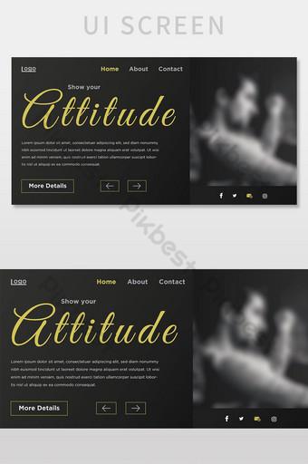 diseño de plantilla de interfaz de usuario de banner de encabezado de sitio web mínimo colorido creativo de moda UI Modelo AI
