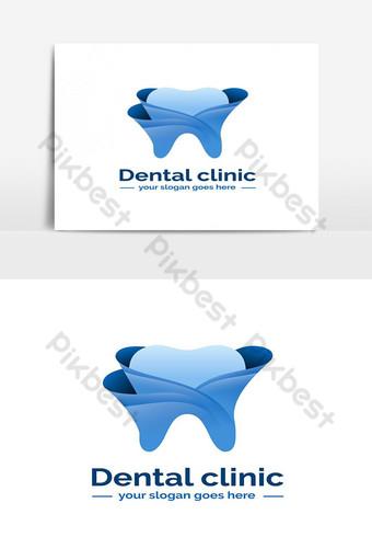 modèle de logo de clinique dentaire dégradé Éléments graphiques Modèle EPS