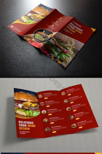 шаблон брошюры меню ресторана trifold шаблон PSD