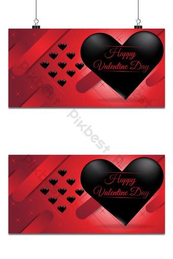 llamativo fondo de San Valentín rojo y negro excepcional Fondos Modelo AI