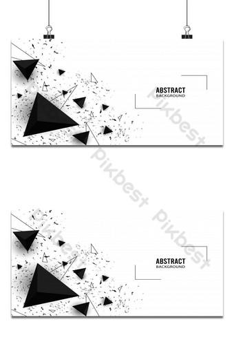 Elegante fondo abstracto en forma de triángulo en blanco y negro Fondos Modelo AI