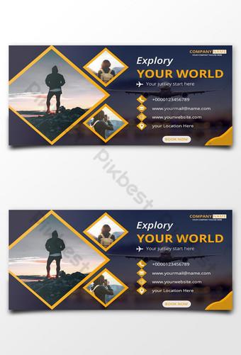 banner publicitario de facebook diseño de banner de redes sociales Modelo PSD