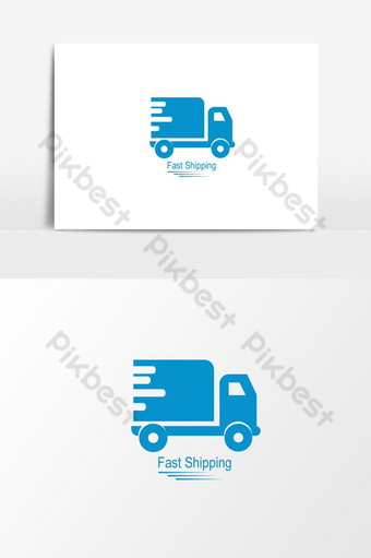 elemento de diseño de logotipo de camión de envío Elementos graficos Modelo EPS