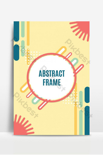 Abstract geometric background with circle frame and place for text or message Backgrounds Template EPS