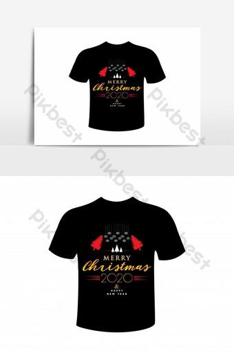 diseño de camiseta simple feliz navidad Elementos graficos Modelo EPS