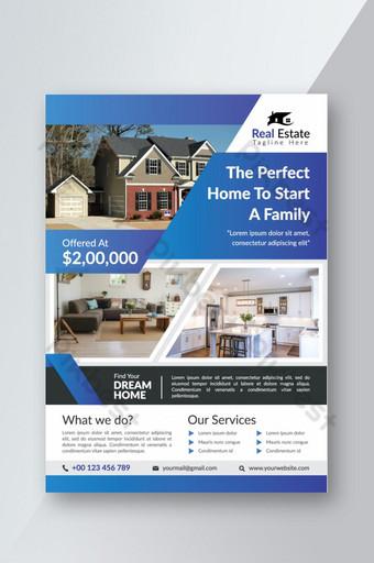 pamflet real estat untuk penjualan rumah Templat AI