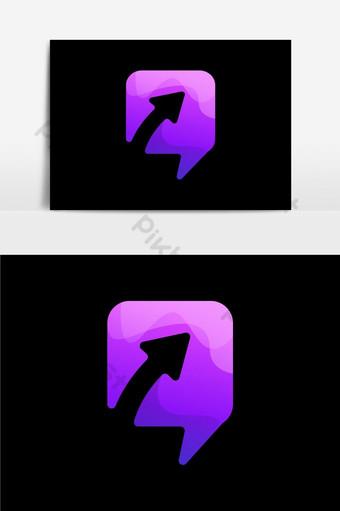 diseño de icono de flecha degradado sobre fondo negro fantástico diseño de icono de flecha con degradado Elementos graficos Modelo AI