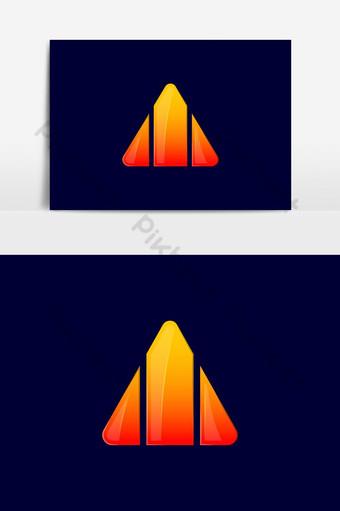 logotipo de una letra mayúscula inicial una curva logotipo redondeado degradado vibrante Elementos graficos Modelo AI