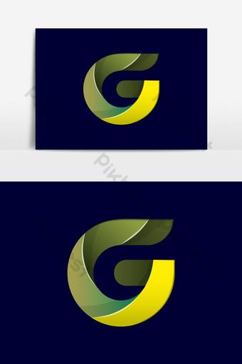 g letra logo g estilo de fuente elementos de plantilla de diseño vectorial para identidad corporativa g logo Elementos graficos Modelo AI