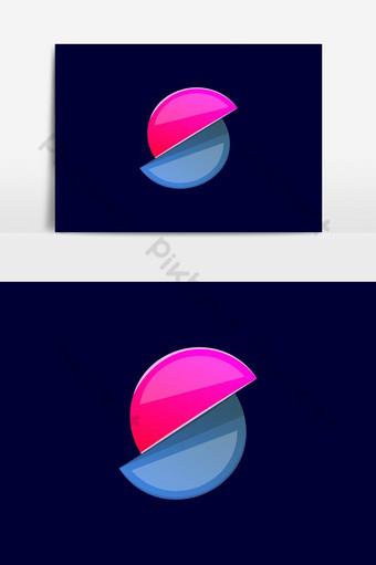 s carta logo color degradado vector estilo de diseño abstracto Elementos graficos Modelo AI